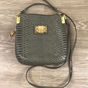Gianni Bini Crocodile crossbody purse Olive Green